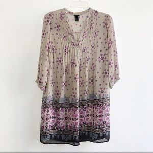 H&M Semi-Sheer Boho Peasant Comfy Tunic Dress 14